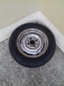13'' caravan or trailer wheel with new tyre