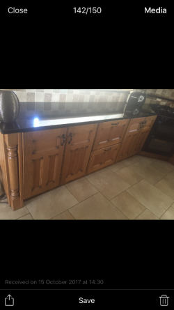 Solid Oak Princeton Kitchen with Polished Granite