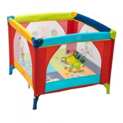Babylo Safari Friends Playpen COLOUTFUL TRAVEL COT PLAY PEN