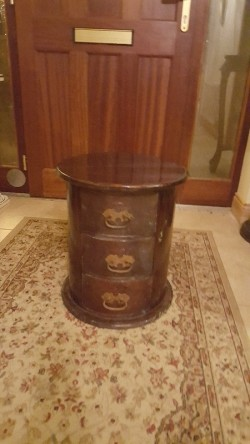 Antique  oval cabinet