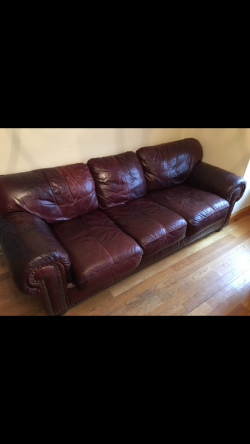 Leather sofa matching large chair