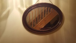 Antique Mahogany  heavy mirror