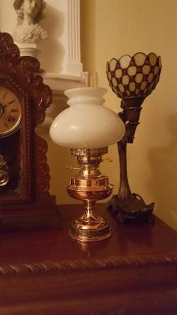 New brass paraffin  oil lamp