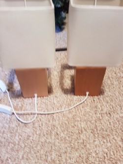 2 Matching Wooden Lamps