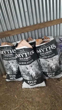 Bags of firewood (logs)