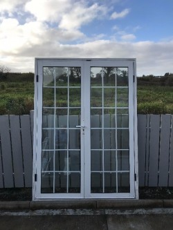 Set of pvc doors (2 single and 1 double)