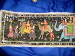 Indian Art Fabric Paintings