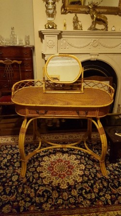 Antique  bamboo  dressing table