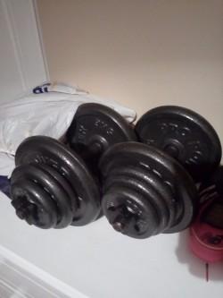 Dumbbells + other gym equipment.