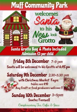 Santa's Grotto at Muff Community Park