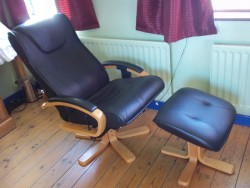 Massage chair with footstool