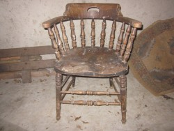 Solid Turned Wood Tub Chair