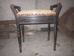 Upholstered Piano Stool In Need of Renovation