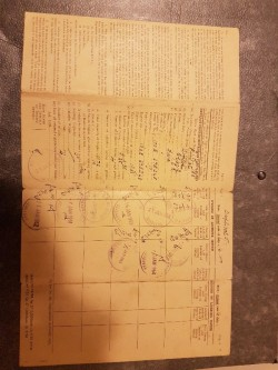 Very old Ford Saloon 1957 log book uncancelled suit collectors item