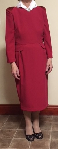 Lovely Tailored Red Dress - Size 12 - Excellent Condition - Only Worn a Couple of Times