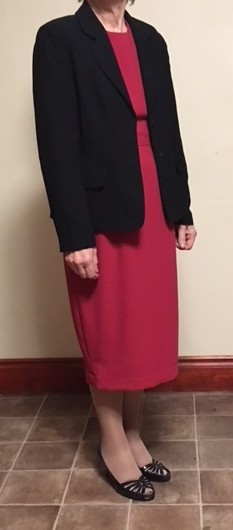 Tailored Red Dress and Fitted Black Jacket - Excellent Condition - Only Worn a Couple of Times