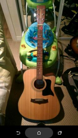 Tanglewood semi acoustic guitar