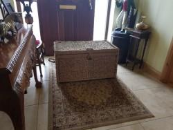 Large woven linen  basket