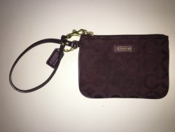 Authentic coach purse/wristlet/wallet deep purple