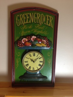 Greengrocer clock plaque