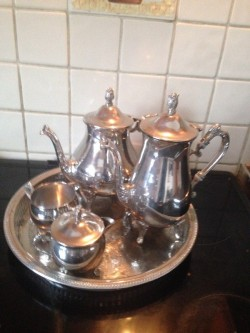 Tea & coffee silver set