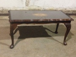 Antique coffee table glass top