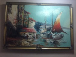 Oil painting (painted by Johnson