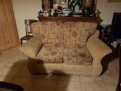 As new 2 seater fabric couch