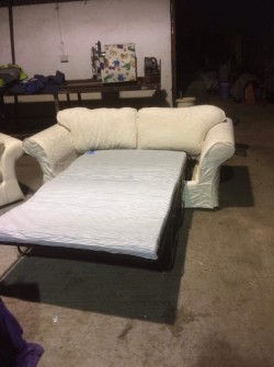 Sofa bed & armchair ( bed never used)