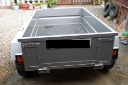 Steel car trailer