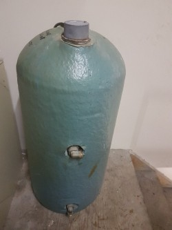 Insulated copper cylinder