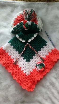 Crochet Ponchos and berret