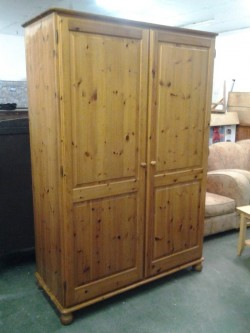 As new Pine wardrobe  in mint condition