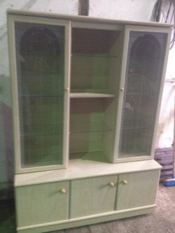 Display cabinet glass doors & shelves &lights
