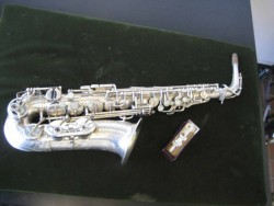 Amazing Saxophone Henri Selmer Paris Balanced Action Alto 100% Original Silver. All New Pads! 1941