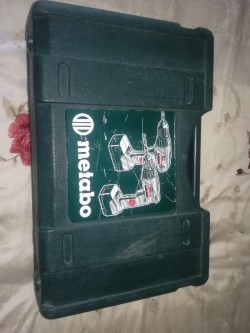 Metabo plus battery drill with 2 *15v batteries