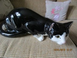 Ceramic cats.