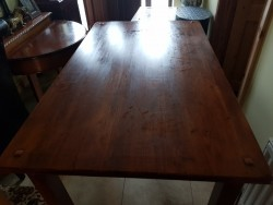 As new cherry wood kitchen table
