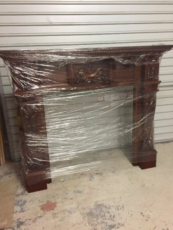Mahogany Style Fireplace  For Sale