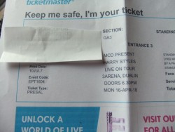harry styles tickets 2 standing area