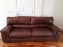 Matching Brown 3 seater and 2 seater for sale