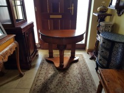 As new   cherry wood hall table