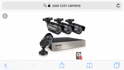 Four security cameras with hard drive