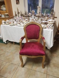 Brand new red velvet  guilt framed chair