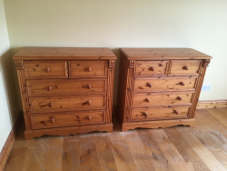 Super king Pine Bed and furniture for sale.
