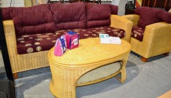 Brand new 3 seater + chair + footstool