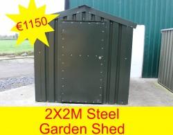 2X2M Steel Garden Sheed