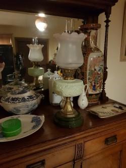 Antique  paraffin oil lamp