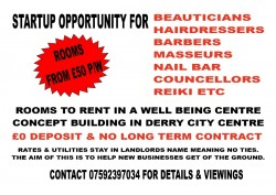 Startup Opportunity For Beautcians / Hairdressers / Nail / Masseur Etc
