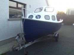 15 ft Mayland GRP Fishing Boat, Outboard and Trailer